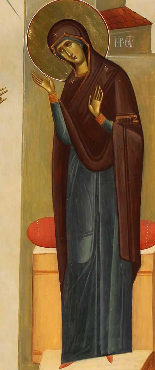 Ioan si Camelia Popa, Otopeni - detaliu Bunavestire, Maicuta Domnului