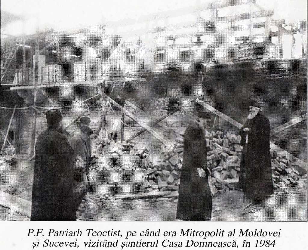 PF Teoctist si P. Iachint - 1984, santierul Casa Domneasca