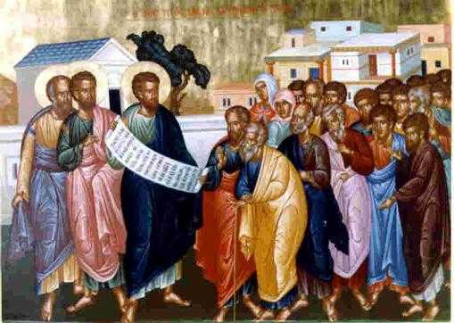 """Parintele Ciprian Negreanu talcuind si aducand in prezent Apostolul: INIMA LARGA si INIMA STRAMTA, masura darniciei din iubirea pentru fratii saraci, UNTDELEMNUL BLANDETII SI VINUL MUSTRARII PARINTESTI, <b>comunitatea """"sfintilor"""" de la Ierusalim</b> si CUM SE FACE DEZBINAREA CRESTINILOR"""
