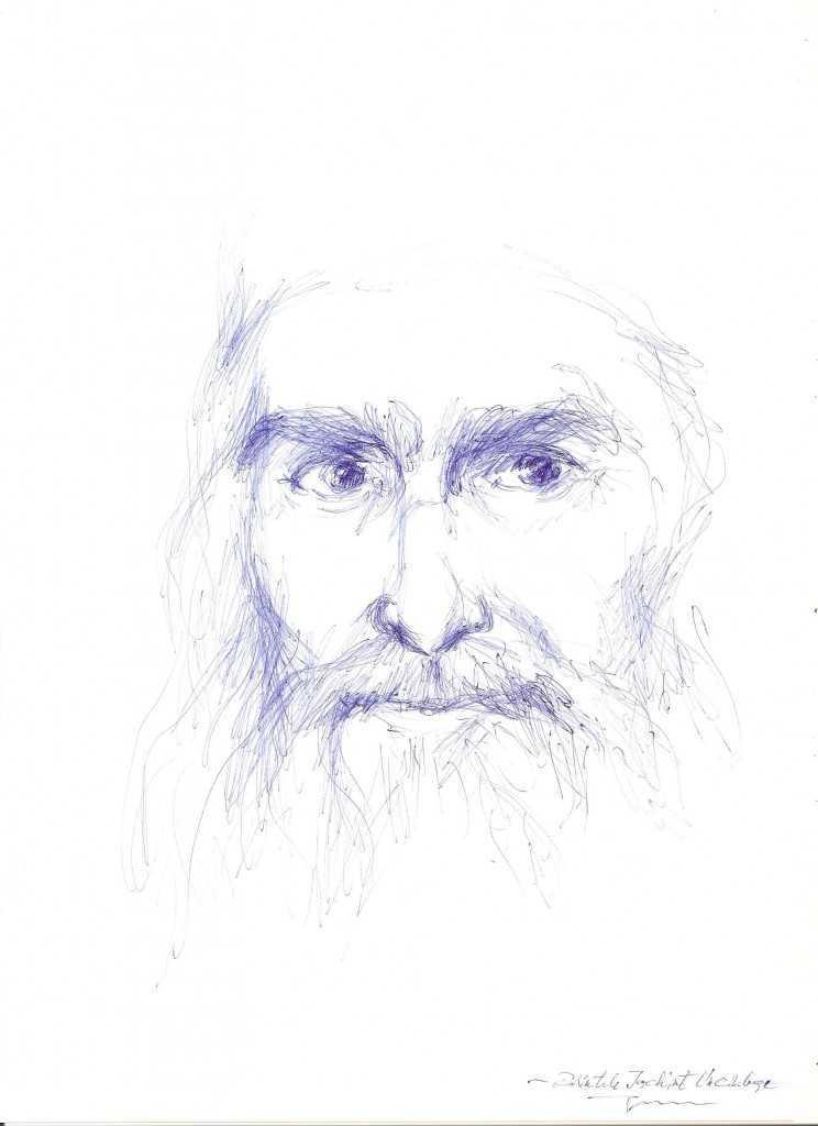 parintele-iachint-unciuleac-de-la-putna1 - desen de Gabriela Mihaita David
