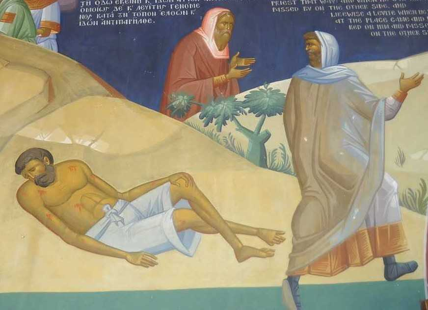 preotul, levitul si cel cazut