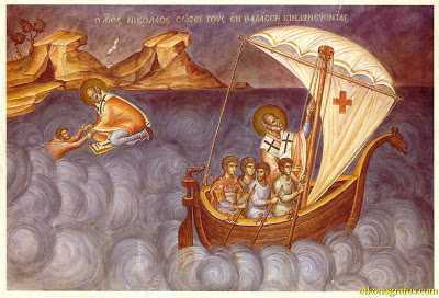 St. Nicholas saving those in danger at sea