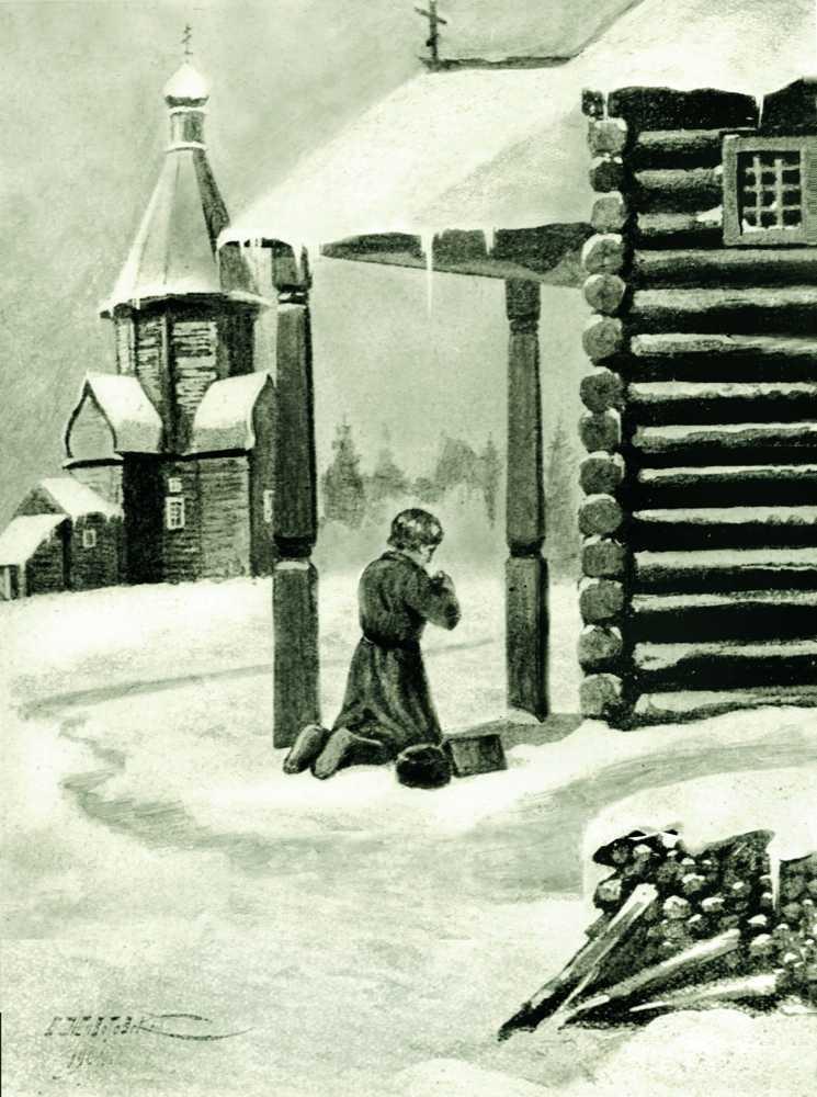 otrok-Ioann-molitsya-po-puti-v-shkolu