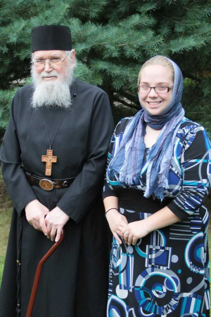 Fr. Roman with Ms. Precop