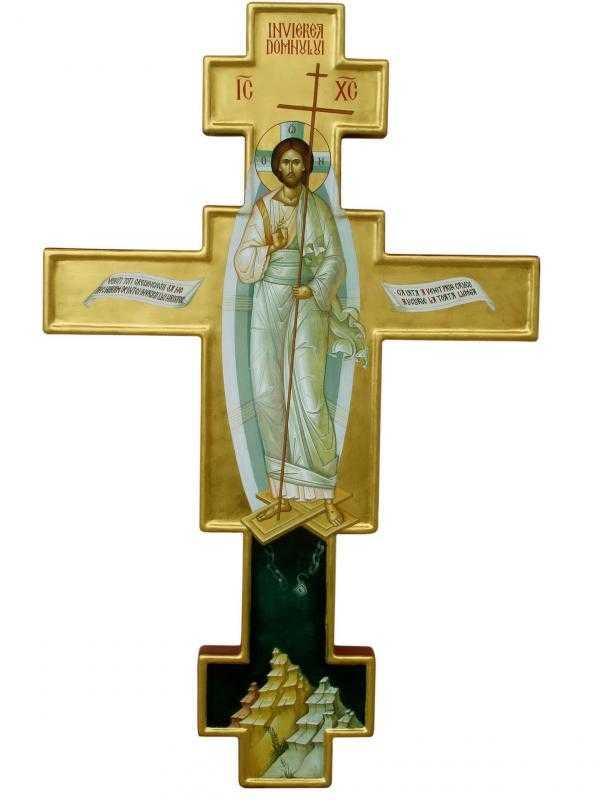 Icoana_Învierii_Pr_Mihail_pictură_pe_Cruce