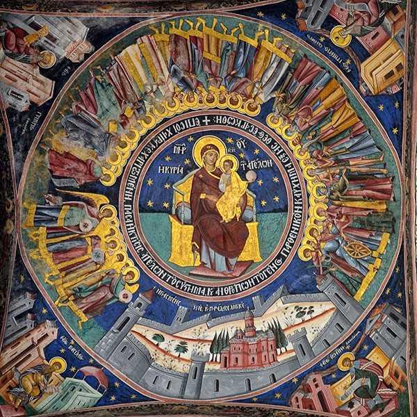 Manastirea Horezu-biserica mare-fresca pridvor-01