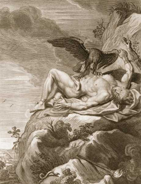 Prometheus Tortured by A vulture