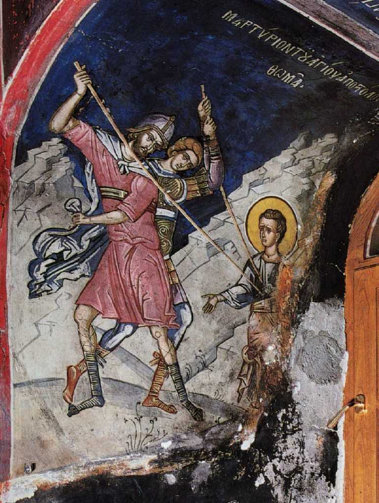 The martyrdom of St. Thomas the Apostle