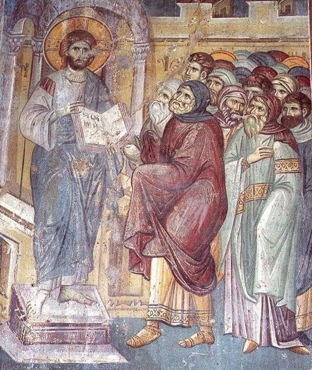 The frescoes of the cathedral Protata in Kars, Athos