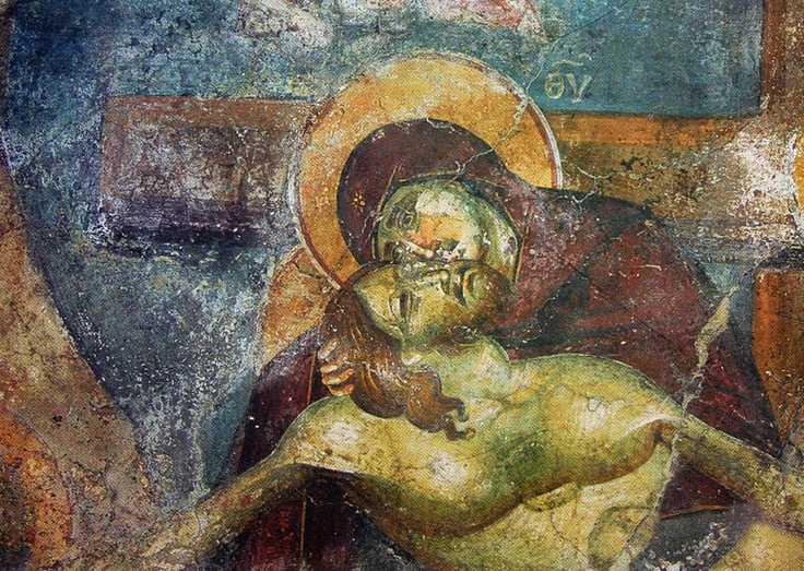 durerea Maicii Domnului cu Fiul coborat de pe Cruce