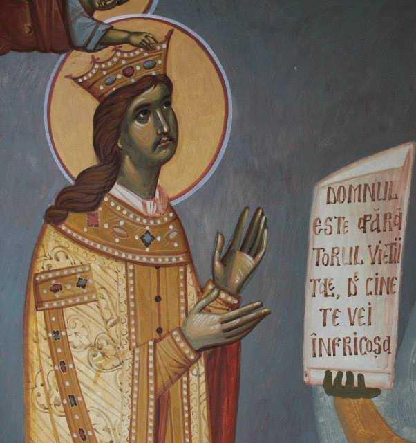 Sfinţiil Ştefan cel Mare în reprezentarea diaconului Nicolae Balan