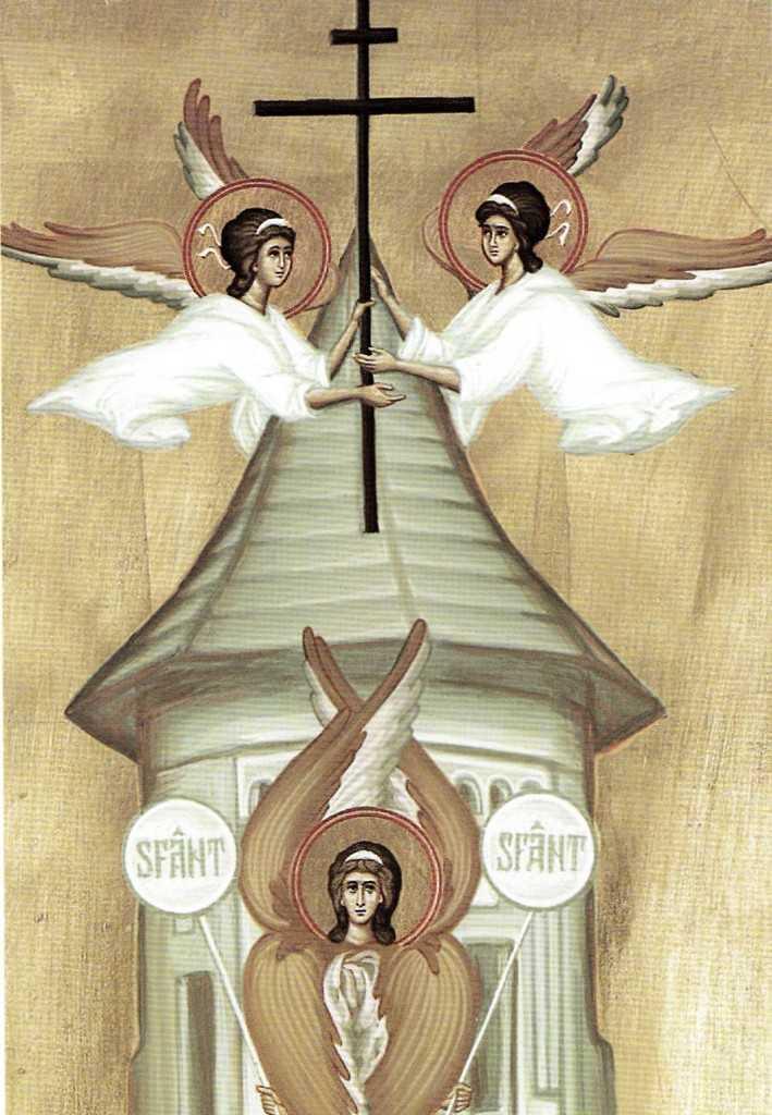 cruce turla ingeri - detaliu icoana noilor martiri anticomunisti Diaconesti