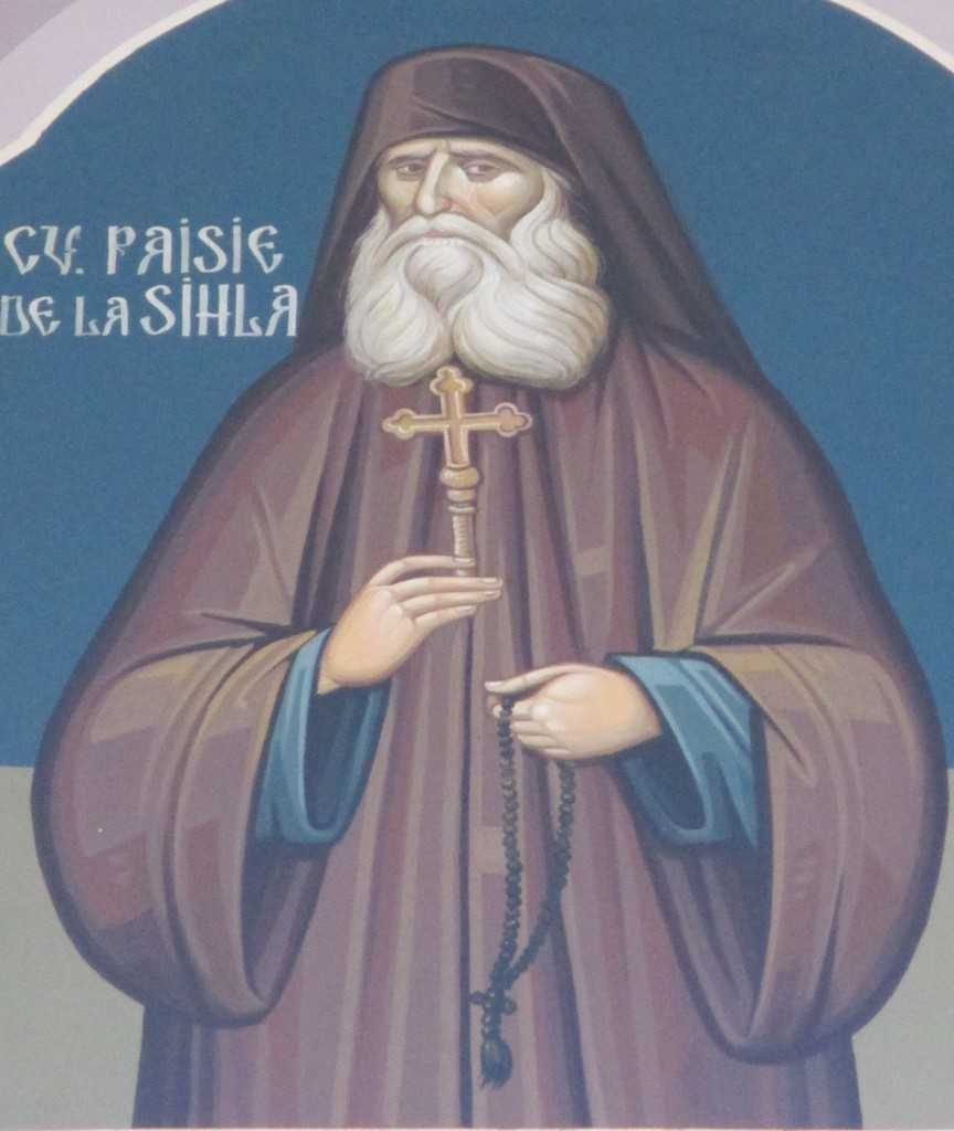 Cuv. Paisie de la Sihla - biserica noua, Sihastria Putnei