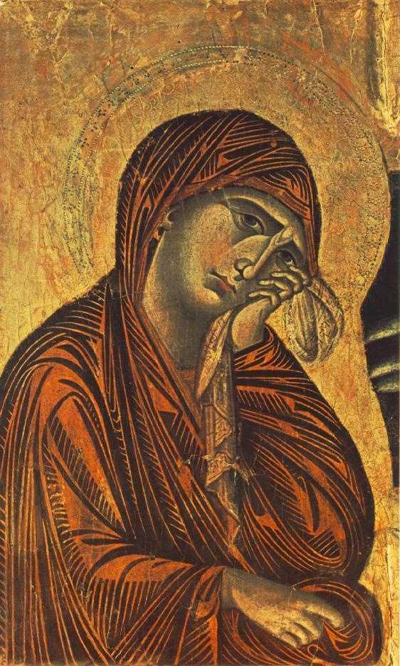 Maica Domnului indurerata - Cimabue (Bencivieni di Pepo) ~ Crucifix (detail)