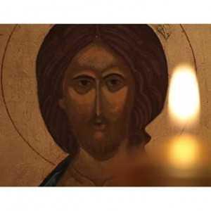 icoana Iisus lumanare