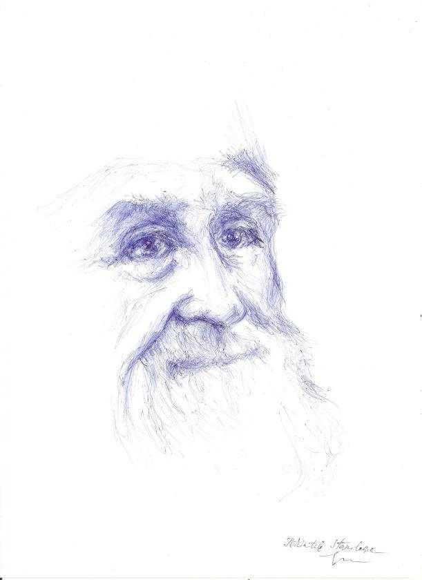 portret Staniloae - albastru de...