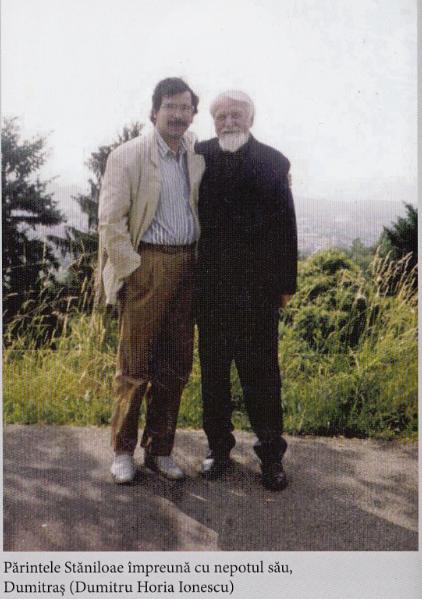 pr. Staniloae cu nepotul Dumitru Horia Ionescu