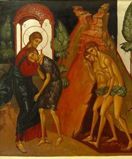 Hristos Adam cazut in rai + haine de piele