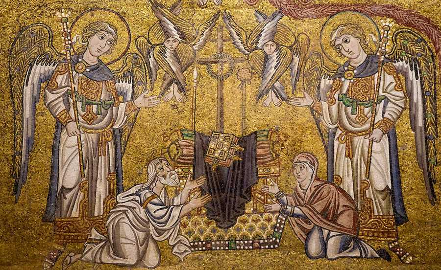 Last Judgment Mosaic: Empty Throne