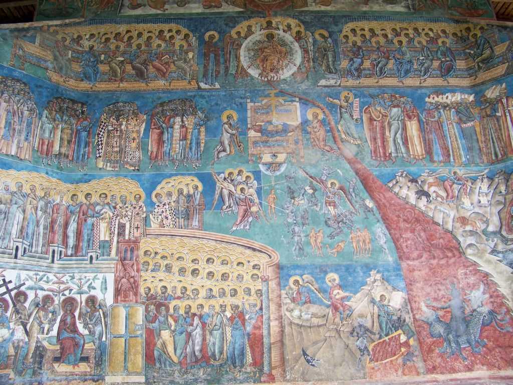 """INFRICOSATOAREA JUDECATA. Ce """"carti"""" se vor deschide in ceasul CELUI MAI MARE EVENIMENT AL ISTORIEI si cum se impaca IUBIREA LUI DUMNEZEU cu """"FLUVIUL DE FOC"""" al iadului, zugravit si in frescele manastirilor noastre?"""