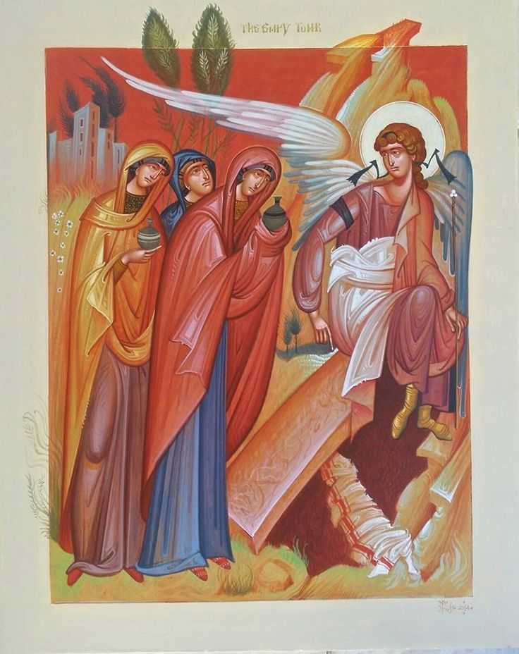 The Holy Myrrh-bearing women by G. Kordis