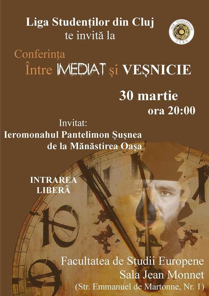 PARINTELE PANTELIMON DE LA OAȘA despre galagia Imediatului invaziv si agresiv VS. soapta discreta si delicata a Vesniciei: &#8220;CAND NI SE FURA VIATA, NI SE FURA CLIPA CU CLIPA!&#8221; <i>(video &#8211; conferinta la Cluj, martie 2016)</i>
