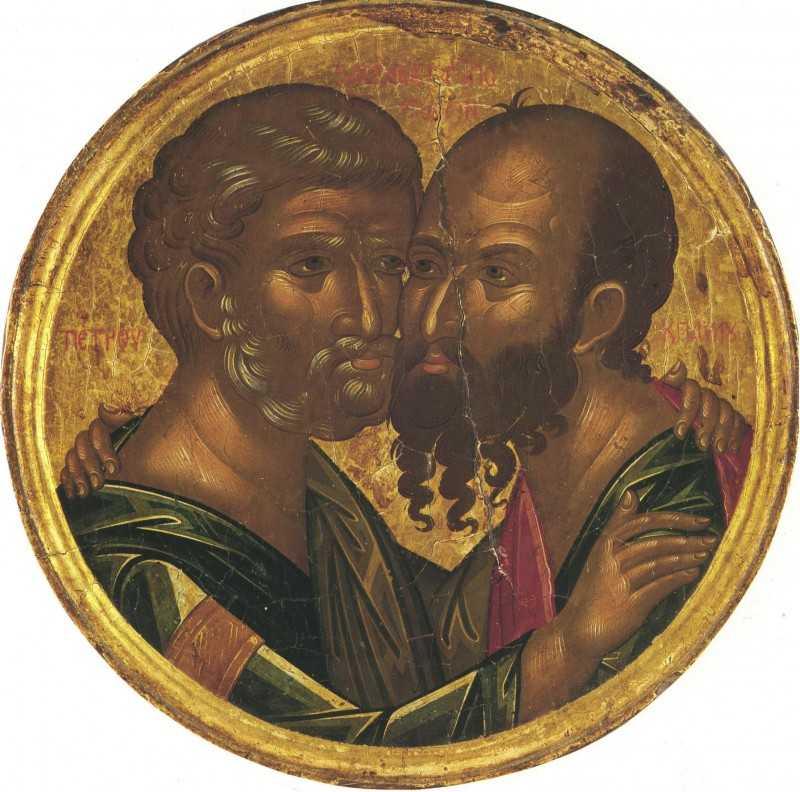 Sfinții Apostoli Petru și Pavel - icoană medalion
