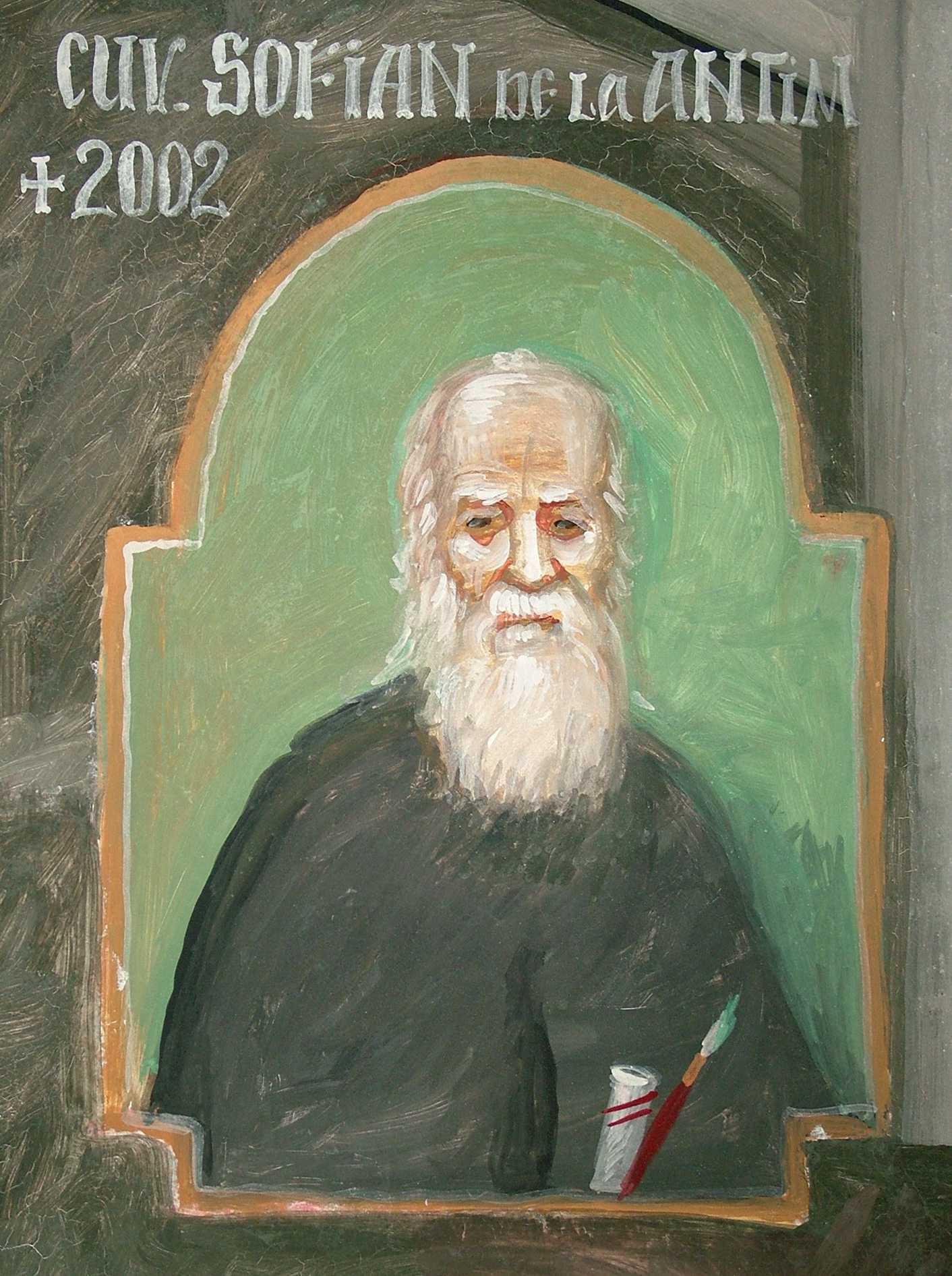 """ARHIMANDRITUL SOFIAN de la Mănăstirea Antim († 14 septembrie 2002), PARINTELE ECHILIBRULUI, MUNTELE DE BLANDETE IMBRACAT IN LUMINA: <i>""""Trecem printr-un moment foarte dificil din multe puncte de vedere și avem nevoie de un anumit echilibru, FĂRĂ EXTREME… Cred că ar trebui să meargă mai multă lume să se roage la mormântul Părintelui Sofian şi să-i ceară ajutorul""""</i>"""