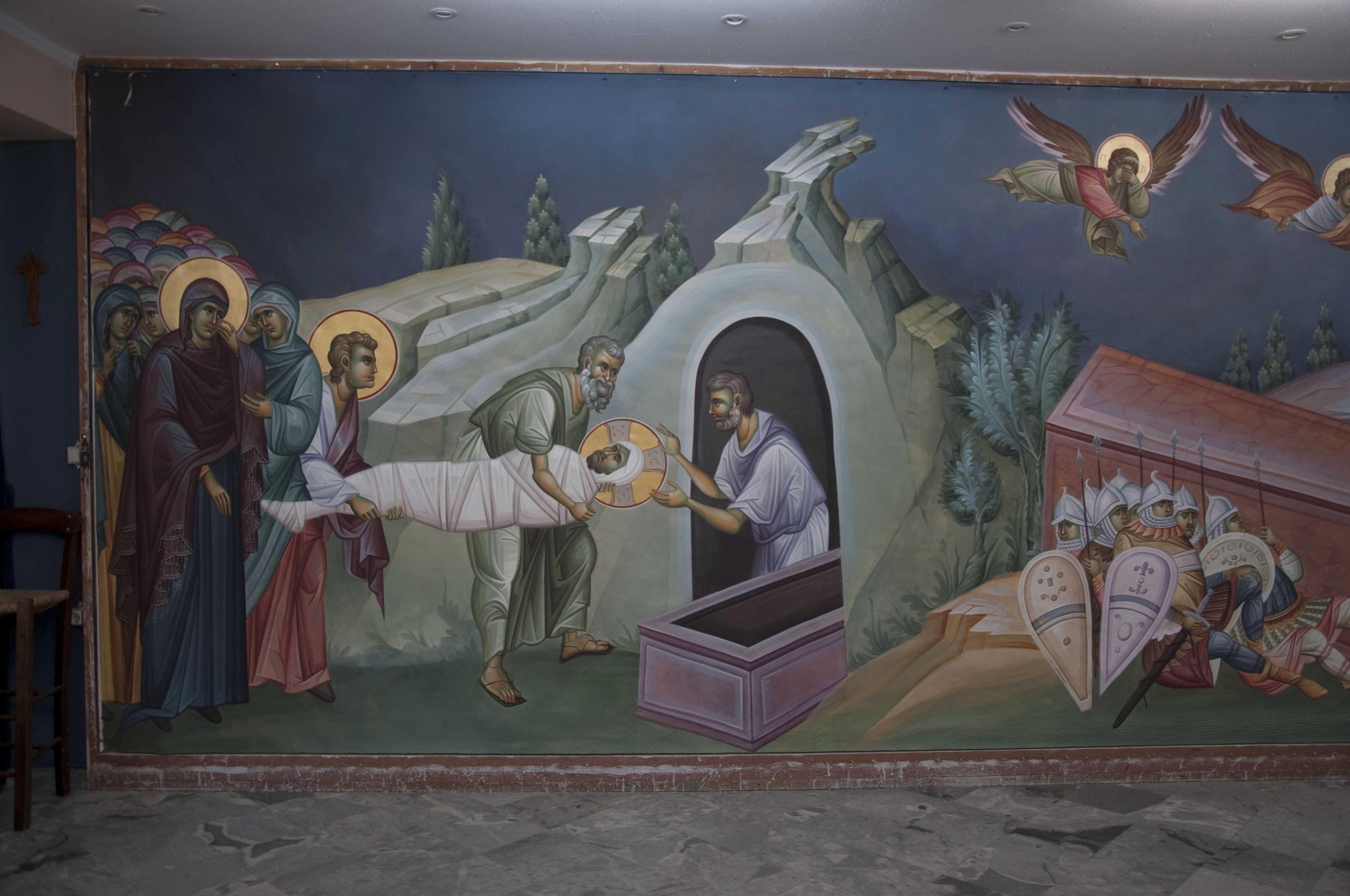 """DENIA SÂMBETEI MARI, PROHODUL DOMNULUI (video, audio, cântari psaltice) – Chipurile călăuzitoare ale rugăciunii: CRUCEA, ÎNGROPAREA ȘI MORMÂNTUL GOL: <i>""""Pe măsură ce rugăciunea creşte, inima se face părtaşă la TAINA DĂRUIRII DE SINE a lui Hristos</i>, devenind ea însăşi un MORMÂNT în care sălăşluieşte Domnul"""""""