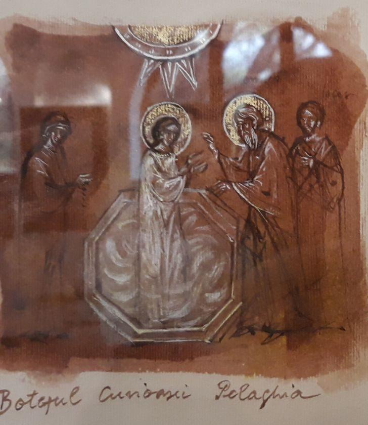 Botezul Cuvioasei Pelaghia de mana Elenei Murariu