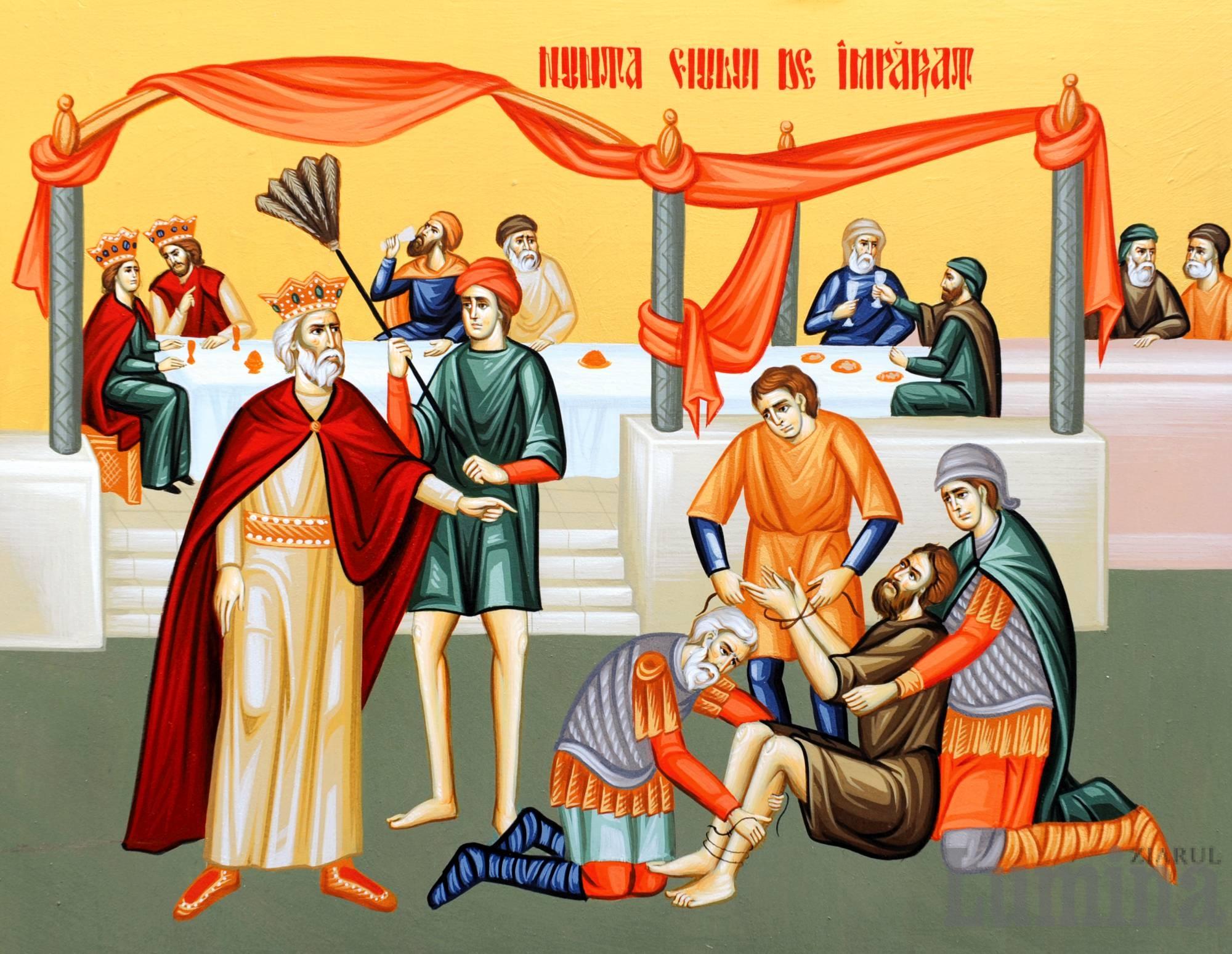 """ÎMPĂRĂȚIA CA O NUNTĂ A ÎMPREUNĂ-BUCURIEI. <i>""""Luminează-mi haina sufletului!""""</i>. SMERENIA – HAINA MIRELUI. Predica Protos. Hrisostom de la Putna la Duminica a 14-a dupa Rusalii (VIDEO, TEXT)"""