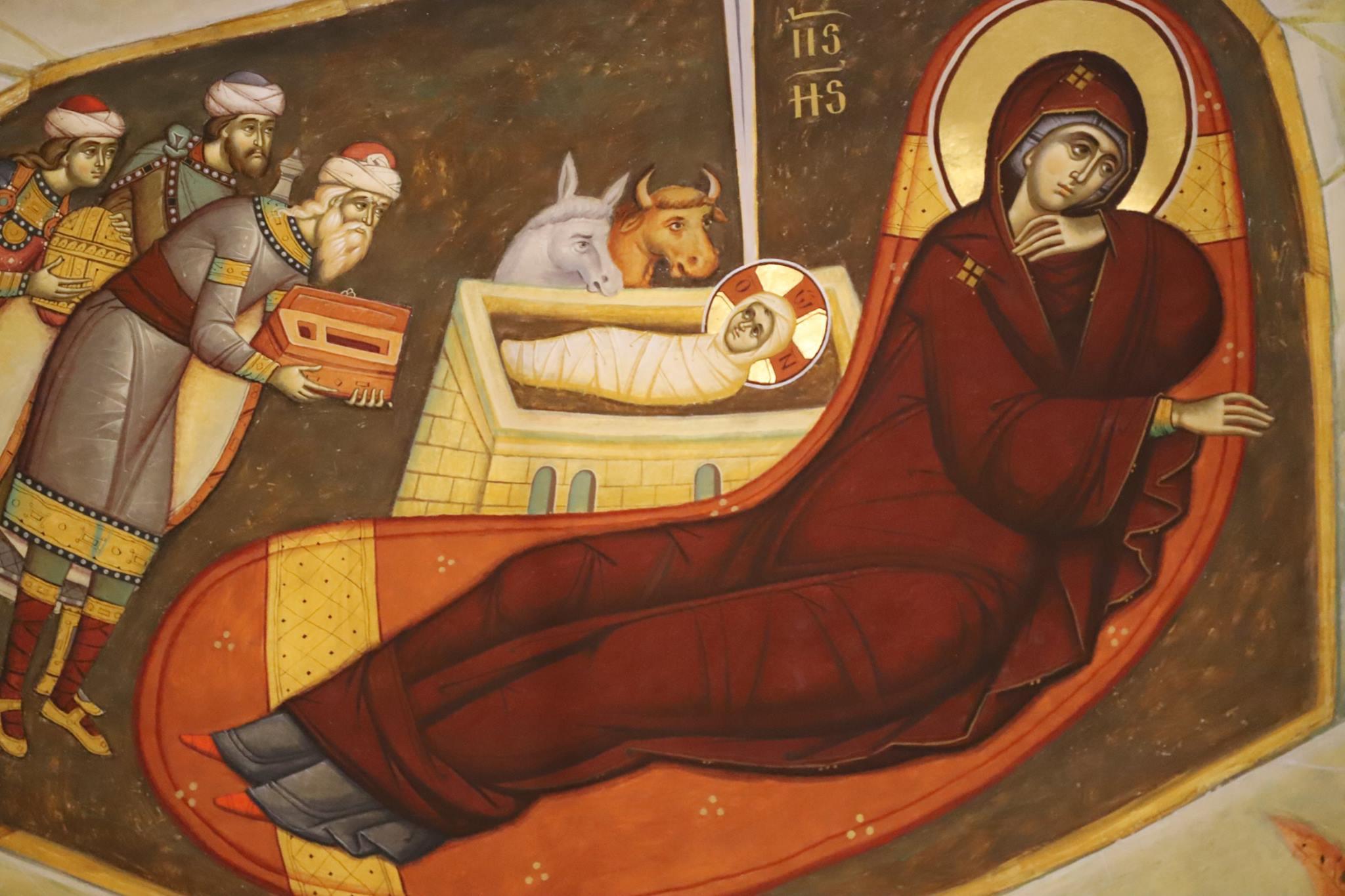 PRIVIREA INTOARSA A MAICII DOMNULUI din icoana ortodoxa a Nasterii sau JERTFA SI DUREREA ASCUNSE IN NASTEREA LUI HRISTOS