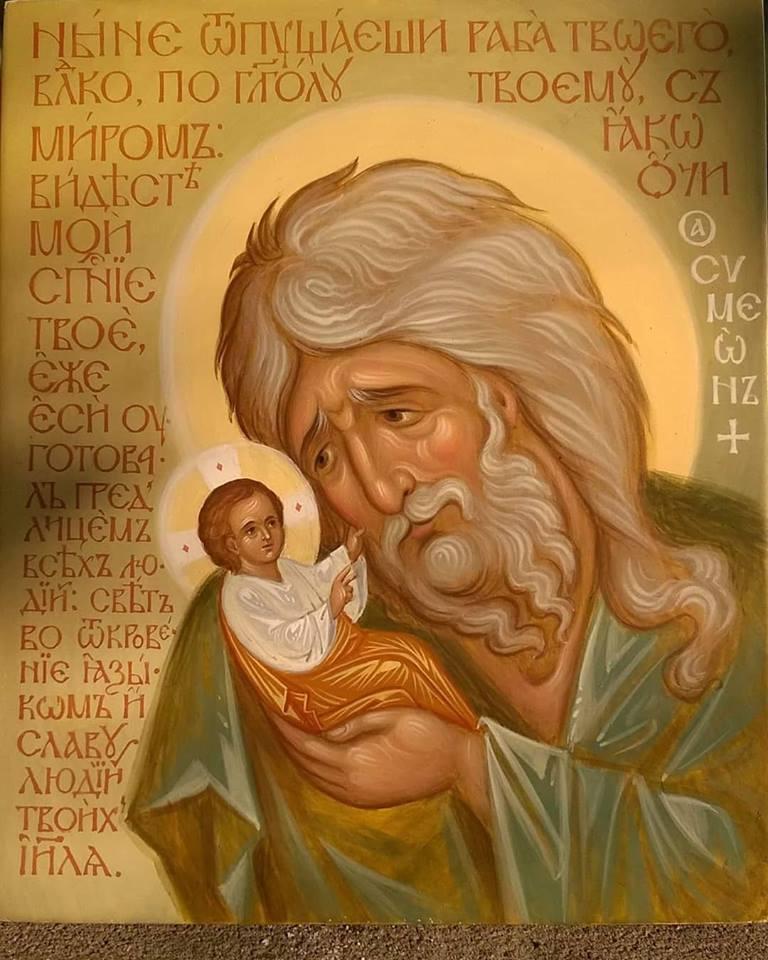 """ÎNTÂMPINAREA DOMNULUI – STAREA SUFLETULUI DORITOR DE DUMNEZEU. Icoana Dreptului Simeon, așteptarea și pregătirea îndelung-răbdătoare a ÎNTÂLNIRII OMULUI CU DUMNEZEU, ca Stăpân și Împărat al cugetului și al inimii noastre (VIDEO – CUVINTELE PĂRINȚILOR HRISOSTOM DE LA PUTNA și MIHAIL DANILIUC, Slujbele Privegherii și Sfintei Liturghii Arhierești de la Iași): <i>""""Doamne, primește-mă întru odihna Ta!""""</i>"""